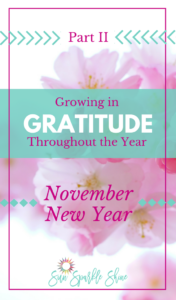 Growing in Gratitude throughout the Year – November New Year Part 2