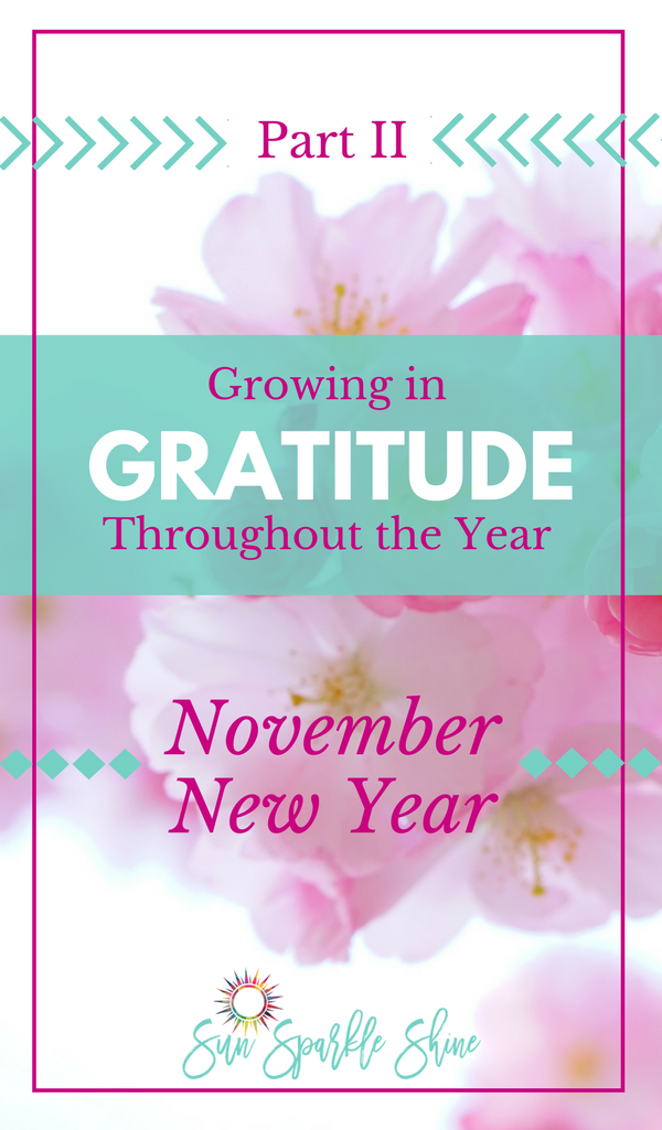 Are you focusing on giving thanks during Thanksgiving? This list will remind you of some things to give thanks for to keep growing in gratitude all year.