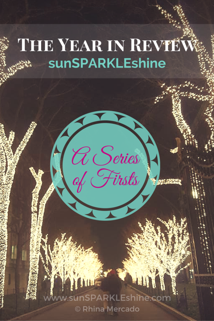 What achievements would you choose as highlights for your year? Here sunSPARKLEshine shares a fun year end review with a series of firsts.