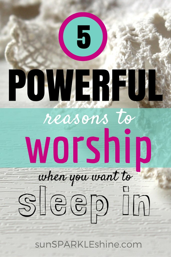 Ever felt like sleeping in instead of having your devotional time with the Lord? Here are 5 powerful reasons to get up and worship God based on scripture.
