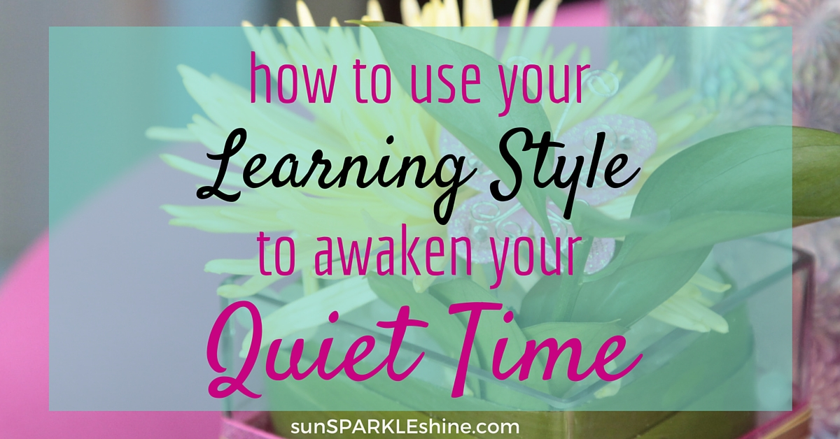Ever wondered why your quiet time isn't moving you closer to God? Find how your learning style can enhance your time with the Lord using these 7 tips. Includes bible devotionals, bible apps, and scripture resources.