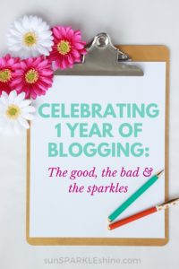 Celebrating One Year of Blogging: The good, the bad & the sparkles