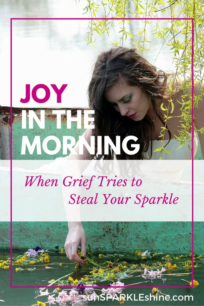 Here's hope for the hurting heart that's dealing with grief: joy comes in the morning. Find strength in the Lord, for He stays close to the brokenhearted.