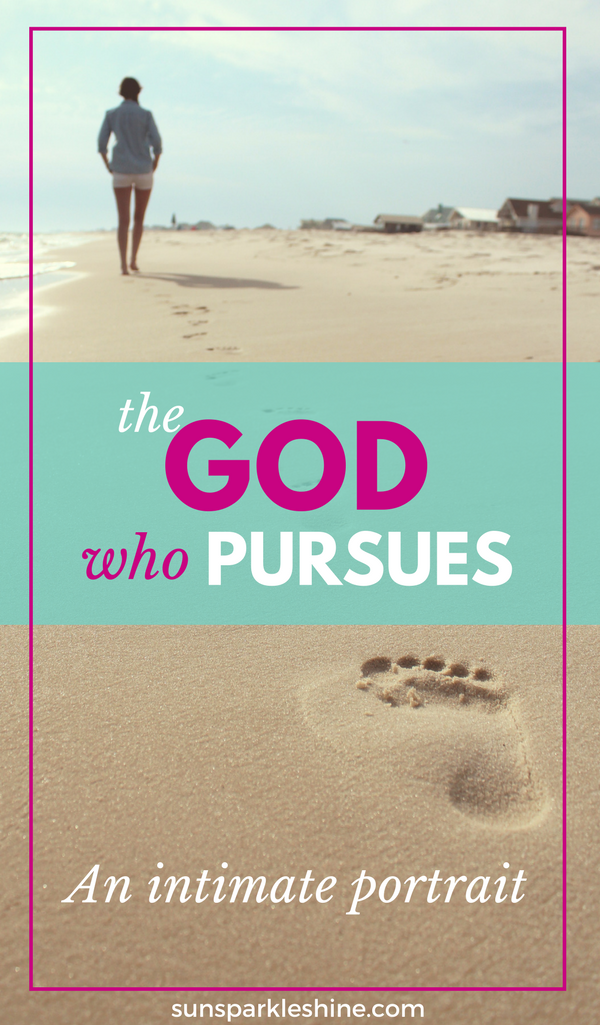 God pursues you relentlessly, tenderly and joyfully. God is so crazy about you that even if you were the only one on the planet He would still run after you. He loves you with an everlasting love, so much so that He gave up His son to pursue you.