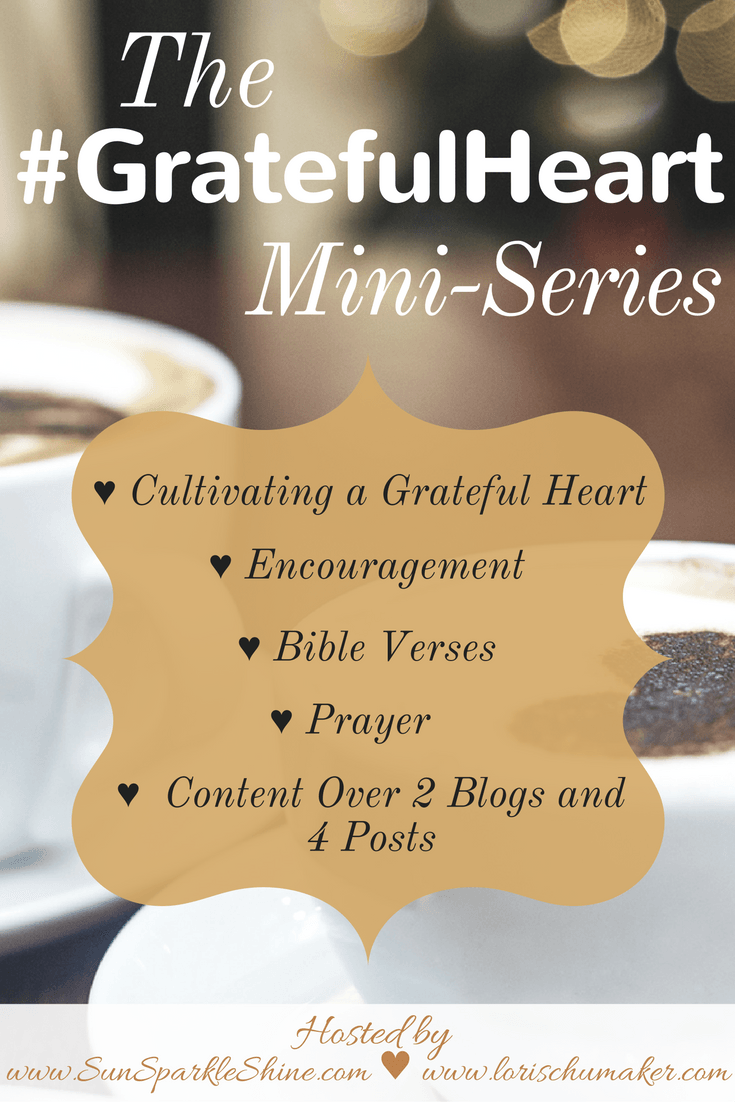 When life gets overwhelming what can lighten the load? Believe it or not, gratitude can. The #GratefulHeart series provide ideas, encouragement, prayers, and Bible verses that will equip you in the cultivating of a grateful heart.