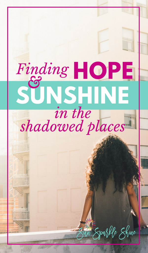 When life feels burdensome where do you turn for hope? The words of a favourite song remind me where my hope comes from. And now I share this hope with you. Maybe you'll even find a bit of sunshine too! This is real hope for the hurting.