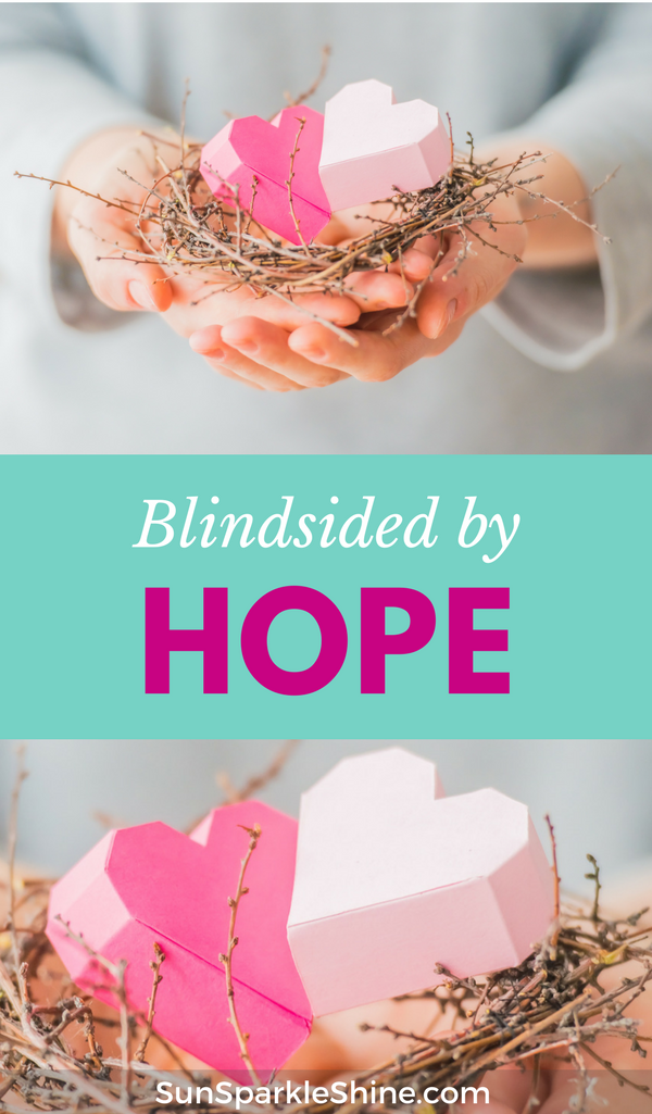 Life is hard but what if we embrace that fact and appreciate the hope that we have in Christ? Blindsided hope happens when we are struck by hope. We find hope in the little things especially in the midst of difficult circumstances. This Sparkle Circle topic reminds us to put our hope and trust in Christ to get us through those tough times.