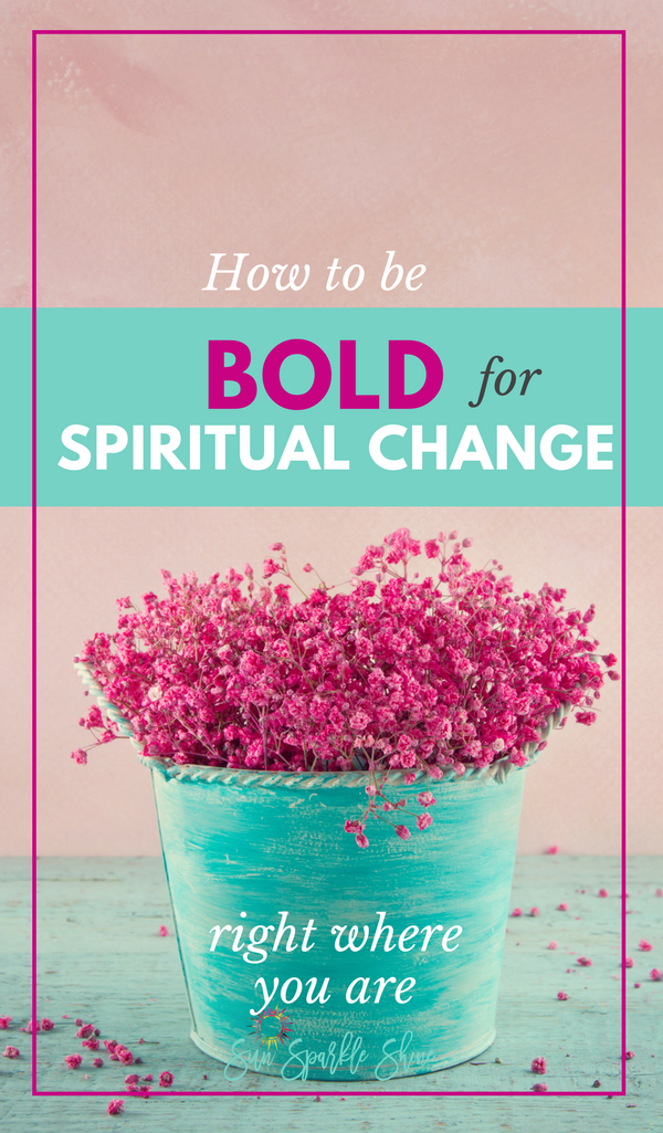 Is God calling you to make a bold spiritual change? What does that even look like? Esther's story offers some key insights into what it means to have bold humility, bold faith and take bold action. And the good news is that you can be bold right there in your living room.