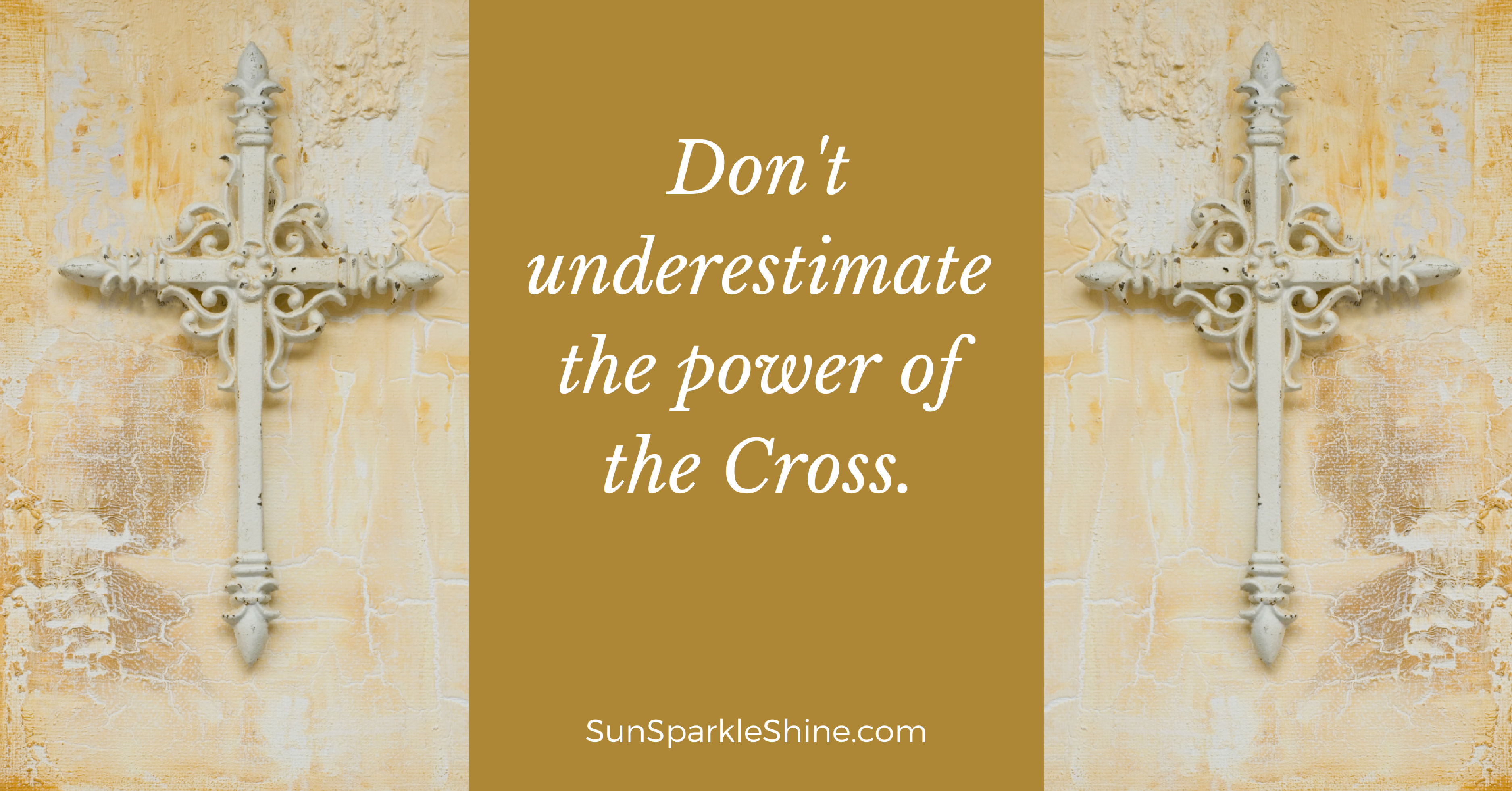 The Cross of Christ is a beautiful image of God's love for us but is it just a symbol? Or does the Cross have the power to transform our lives? To find out more, read this devotional with prompts from the old hymn When I Survey the Wondrous Cross on SunSparkleShine.com.