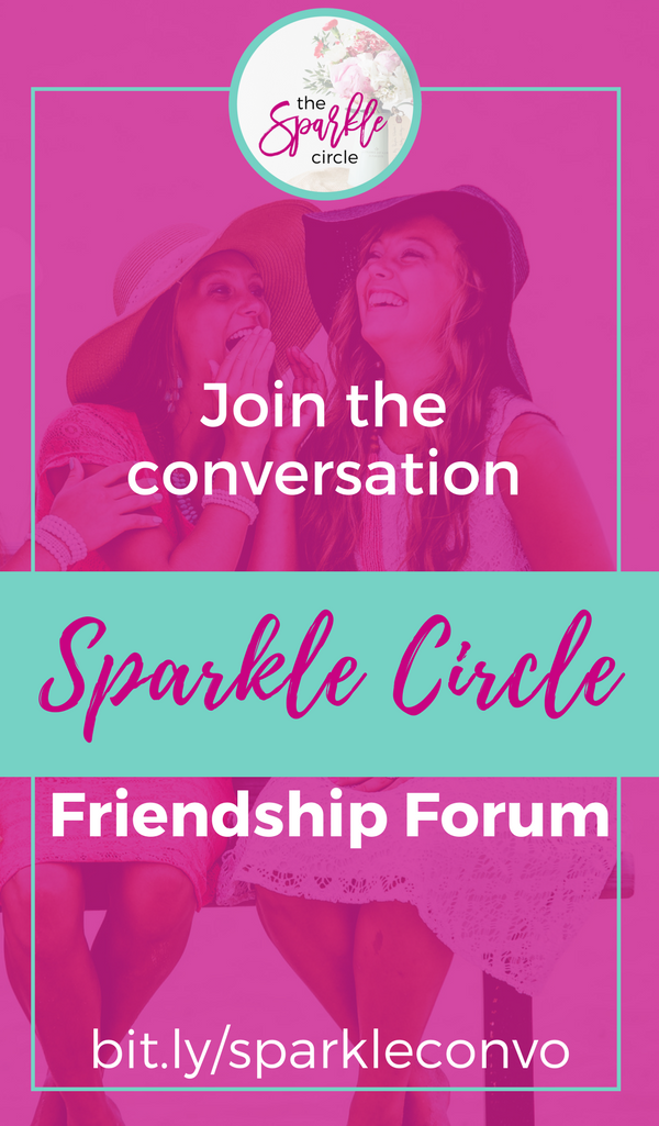 Sparkle Circle Friendship Forum - Join the conversation at SunSparkleShine.com - Community for women shining for Christ