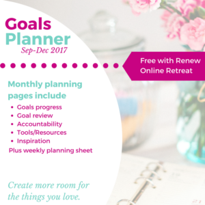 Get your free Goals Planner with purchase of Renew Online Retreat