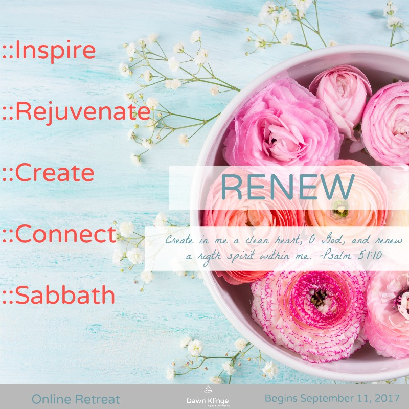 What better way to reconnect with God than with spiritual retreats? Renew Online Retreat - SunSparkleShine.com
