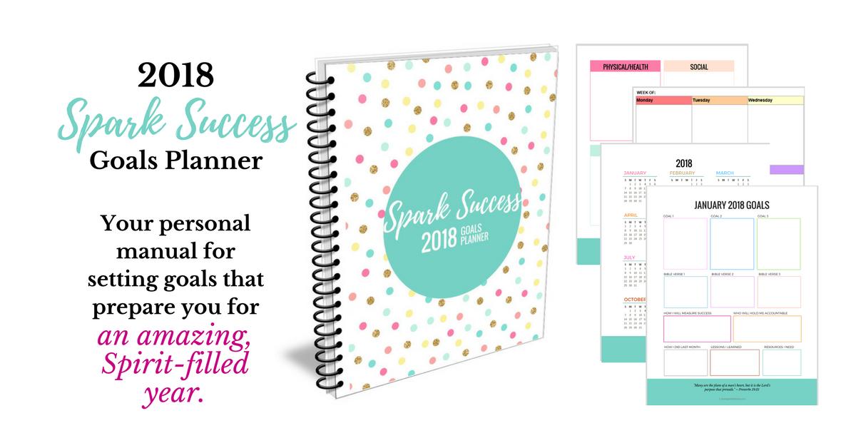 Spark Success Goals Planner | SunSparkleShine.com