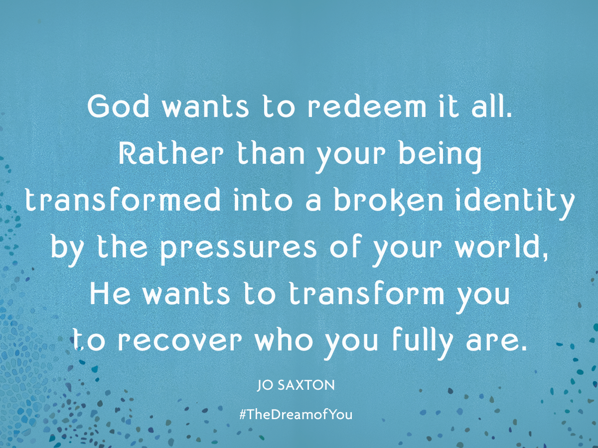It's time to recover the dream of you -- that God-given identity that you've lost along the way. Jo Saxton shares her thoughts about her latest book, the Dream of You.
