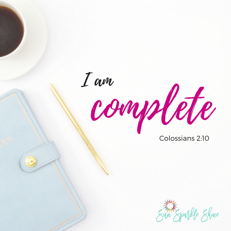 Allow these Who I am In Christ statements to sink in and give you the encouragement you need. You'll find that his is the most powerful way to start your day.