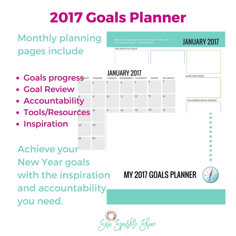 More than just a one-year calendar, the Goals Planner is your personal manual for setting goals in a way that will prepare you for an amazing year. I took my years of experience as a professional planner, advice from goal-setting gurus and biblical principles to create this amazing resource. It includes goal setting tips, monthly planning pages with goals progress and review, accountability, motivational quotes and so much more. Printable planner - pdf file